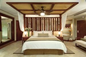 Dreams Riviera Cancun Resort and Spa Premium Deluxe Room with a unique octagonal floor plan
