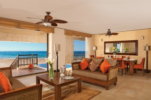 Dreams Riviera Cancun Resort and Spa Presidential Suite Living Room