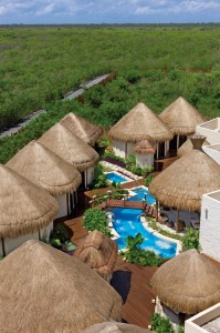 Dreams Riviera Cancun Resort   aerial view of Spa