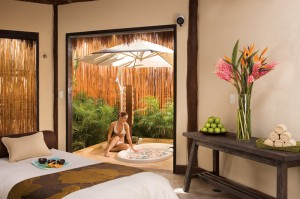 Dreams Riviera Cancun Resort Spa Vip Cabin looking outside